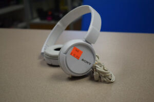 Sony White Over-Ear Headphones (MDRZX110)