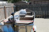 12 ft aluminum Coleman deep v fishing boat