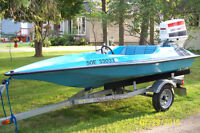 Mini  VooDoo  with Johnson 70hp Motor New trailer