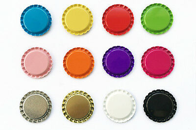 """100 1"""" inch Flat Linerless Double Sided Painted Flattened Bottle Caps For Crafts"""