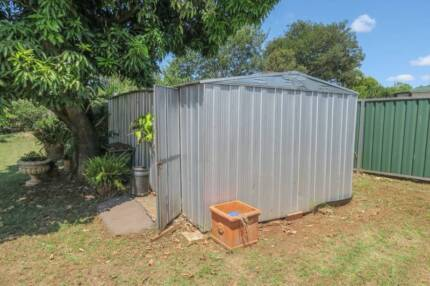 Shed 6 x 3 metres Zincalume Fair Condition