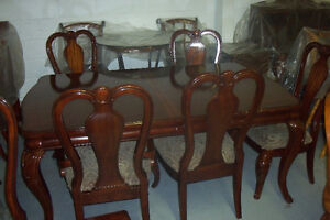 SET CUSINE 6 CHAISES PATTE COURBÉE, BUFFET