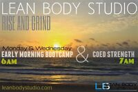 Early morning classes 6am and 7am Lean Body studio
