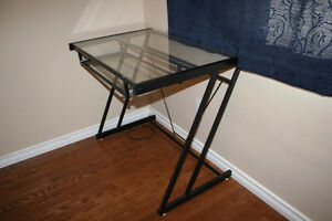 Metal/Glass Computer Table