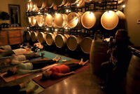 Yoga, Live Music, Wine &Chocolate in the barrel room at Intrigue