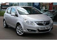 2008 VAUXHALL CORSA 1.4i 16V Design LEATHER, AIR CON, ALLOYS VERY LOW MILES