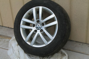 VW Alloy Rims with tires