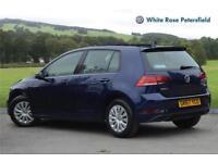 2017 Volkswagen Golf S 1.6 TDI 115PS 5-speed Manual 5 Door Diesel blue Manual