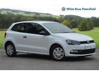 2015 Volkswagen Polo S 1.0 60PS 5-speed Manual 3 Door Petrol white Manual