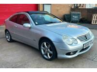 2005 55 Mercedes C220 CDI Sport 3dr AUTOMATIC DIESEL + PANORAMIC ROOF + FREE MOT
