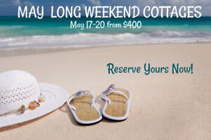 MAY LONG WEEKEND COTTAGE RENTALS SAUBLE BEACH, STARTING AT $400
