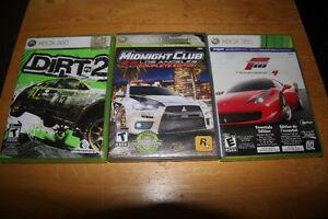 3 jeux de course d'autos... Dirt 2--Midnight Club L.A.--Forsa 4