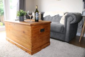 Solid Pine Blanket Box Coffee Table Shoe Store