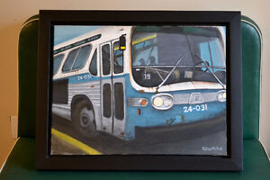 TOILE AUTOBUS MONTREAL CTCUM GM NEW LOOK BUS PAINTING