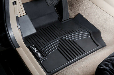 BMW thermoplastic all weather floor liners X3 F25   FRONT BLACK  82112293586