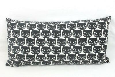 "Canvas Black White Mini Body Pillow Cat Pattern 21"" x 10"" Bed Decorations"