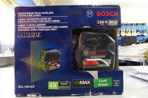 Bosch Self-Leveling Green-Beam Cross-Line Laser