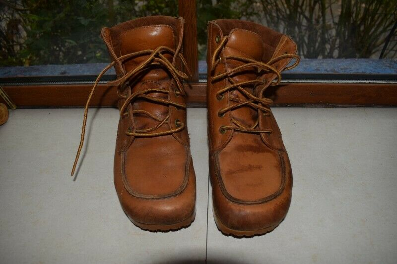 Roots Canada Women Ankle Beige/Camel Leather Boots Size 5 1/2
