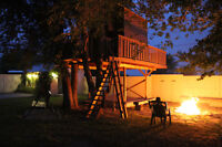Beautiful home & two story tree house......fire pit / large yard