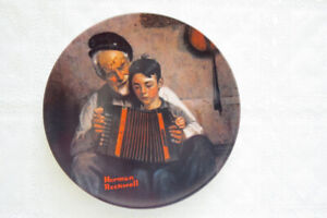 """Norman Rockwell collector plate...""""The Music Maker"""""""