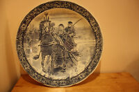 Holland Art Pottery Delft Wall Charger Plate Signed Boch Royal S