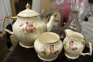Vintage SADLER Teapot and Cream & Sugar Set