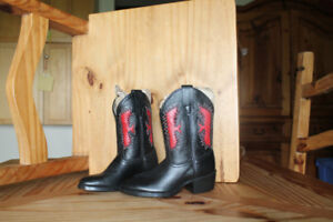 Kids Leather Cowboy Boots
