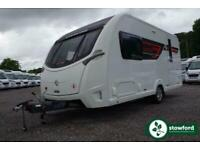 Sterling Elite 480 2016 Caravan 2 Berth End Bathroom Parallel Front Lounge Singl