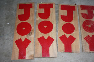 "JOY 32"" tall barnboard sign for your front porch or indoors"