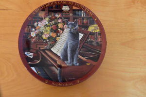 Assiette de collection de chat de Higgins Bond