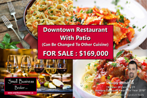 Busy Downtown Restaurant For Sale - Ony 169,000