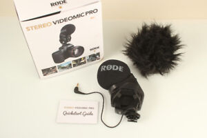 Rode stereo videomic pro with fur wind shield