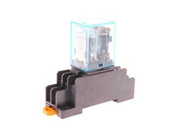 12vdc Coil Power Relay 10a Dpdt Ly2nj Hh62p-l Jqx-13f-2z With Ptf08a Socket Base