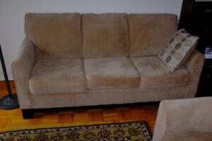 NEW PRICE - Beige Sofa and Love Seat Set