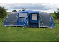 8 berth Vango Albany 800 tent for sale - used