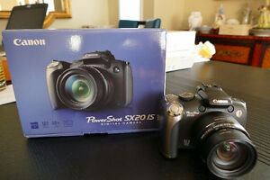 Canon Power Shot SX20IS digital camera.