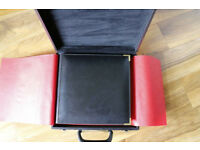 leather wedding album Milano italian with case - mario acerboni