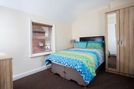 MODERN DOUBLE ROOMS TO RENT, SOME ENSUITE, ALL BILLS INC ,FULLY FURN, WIFI, CLEANER, TV IN ROOM