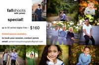 FALL SHOOTS SPECIAL! $160