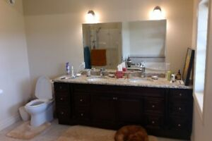 Bathroom Vanity with Granite Countertop For Sale