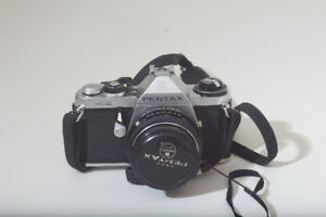 Vintage Film SLR Pentax ME w/50mm f/1.7 film camera, and case.