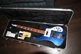Rickenbacker Bass 2005 build, fitted case in vgc