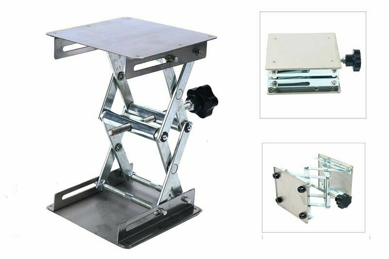 "4"" x 4"" 100mm Lab Stand Table Scissor Jack Lift laboratory Jiffy"