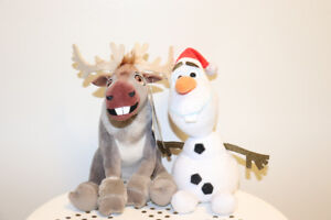 "Frozen Sven and Olaf 6"" plush toys"