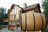 Log house for rent chalet for rent spa sauna golf and ski