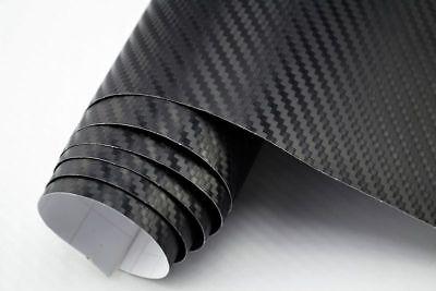 5,42€/m² 3D Carbon Folie schwarz - blasenfrei 1200 x 152cm Klebefolie Carbon Opt