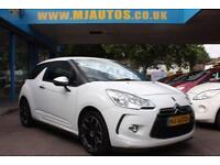 2011 11 CITROEN DS3 1.6 HDI BLACK AND WHITE 3DR 90 BHP DIESEL