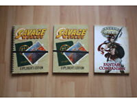 Savage Worlds Fantasy Companion & SW Explorer's Edition Core Rulebooks (1 normal, 1 ring-bound copy)