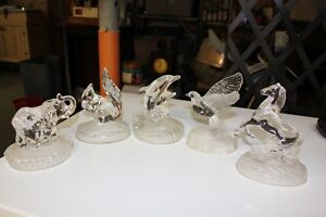Cristal D'Arques 24% Lead Crystal Animal Figurines
