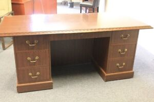 Large desk and hutch